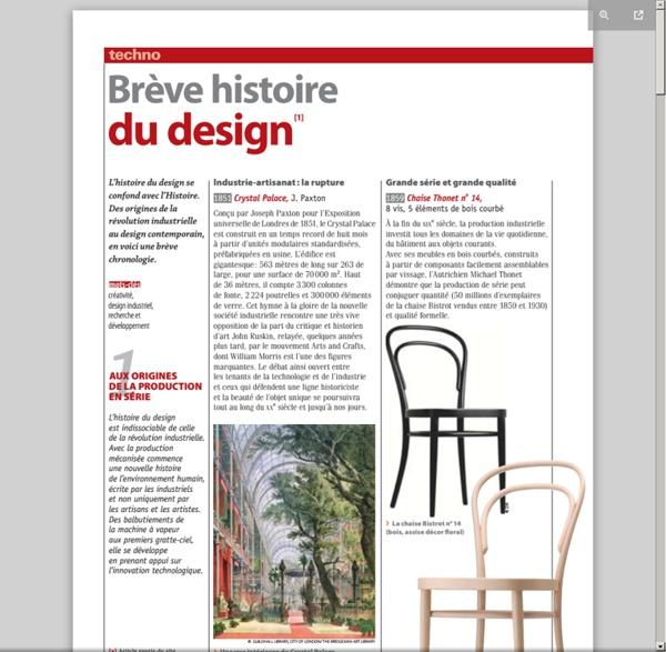 breve histoire du design cndp pearltrees