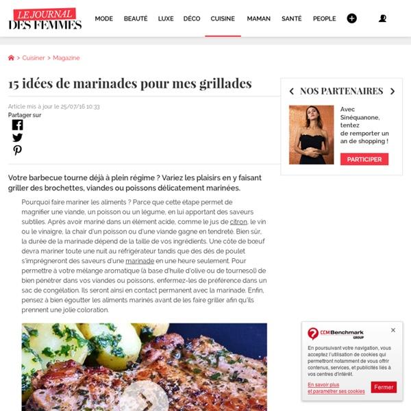 Marinade pour viandes blanches - Recettes de marinades pour viandes et poissons