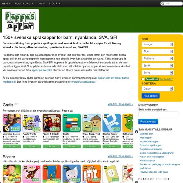 Svenska språkappar för barn