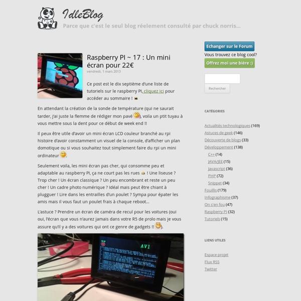 17 : Un mini écran pour 22€