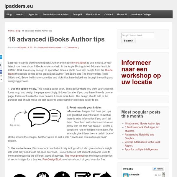 18 advanced iBooks Author tips