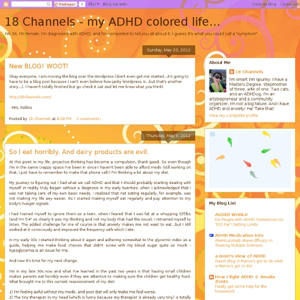 18 Channels - my ADHD colored life...