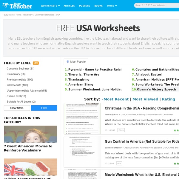 156 FREE USA Worksheets