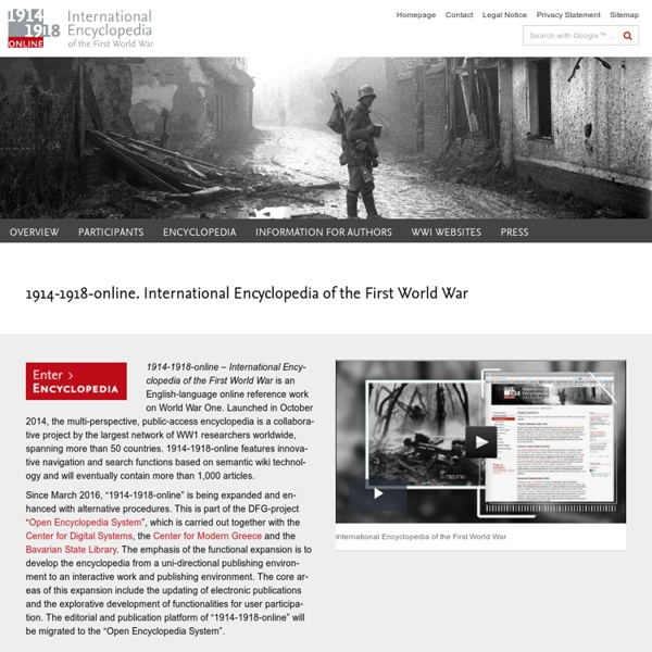1914-1918-online: Homepage
