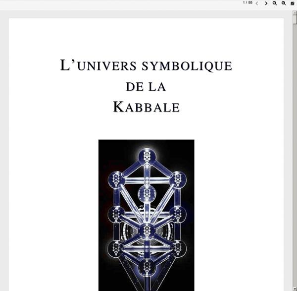 Univers symbolique de la Kabbale (Qabalah)