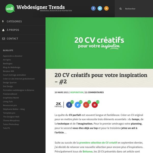 20 CV créatifs pour votre inspiration - #2