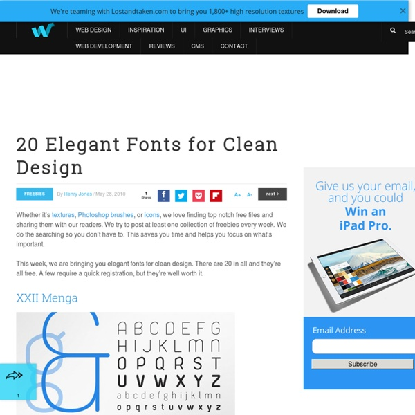 20 Elegant Fonts for Clean Design