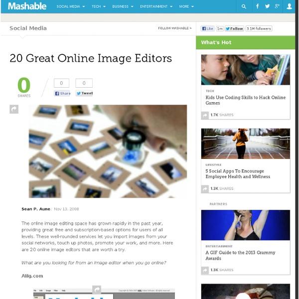 20 Great Online Image Editors