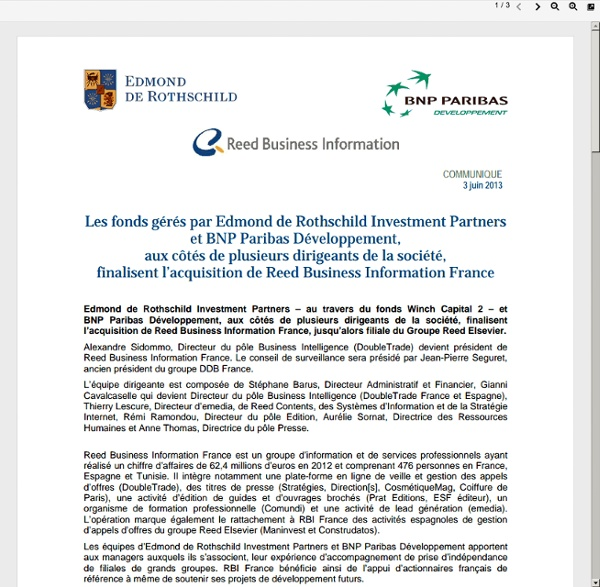 GROUPE Edmond de Rothschild BNP parisbas