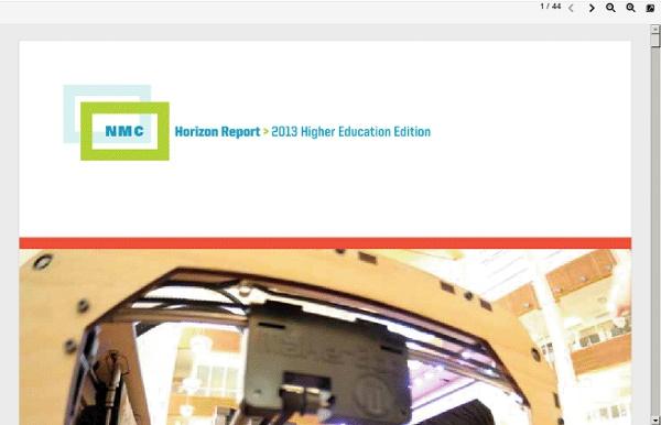 NMC Horizon Report 2013 Higher Education Report