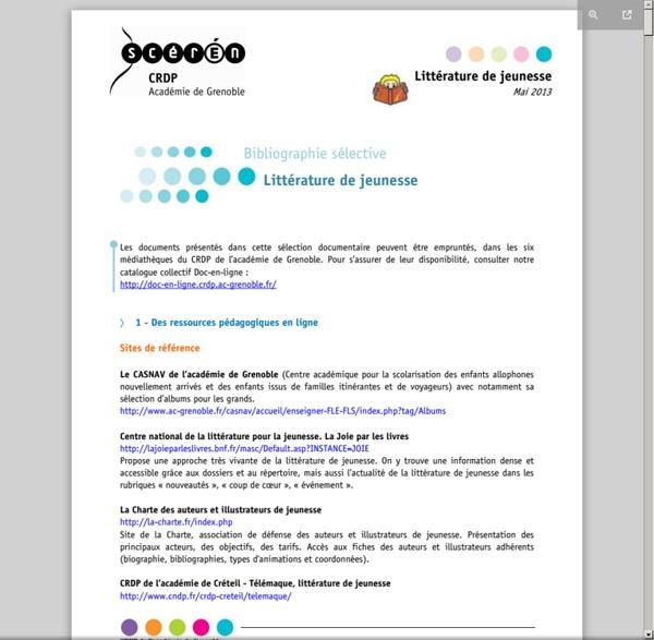2013-05 Littérature jeunesse - 2013.05-litterature-jeunesse.pdf