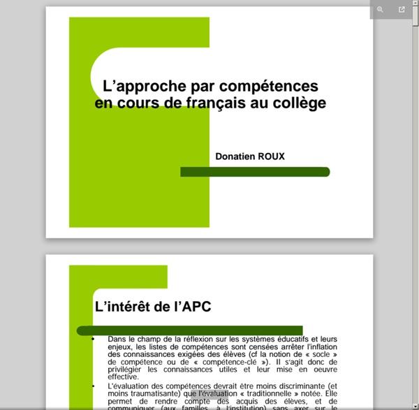 Disciplines.ac-bordeaux.fr/lettres/uploads/pages/134/file/4_ Séquence Fables APC.pdf