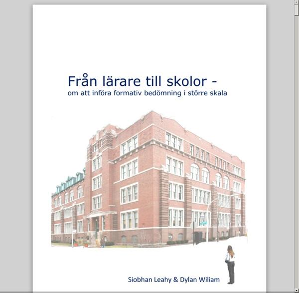 Från lärare till skolor - Om att införa formativ bedömning i större skala (Göteborgs Stad 2014).pdf