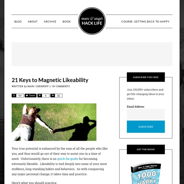 21 Keys to Magnetic Likeability