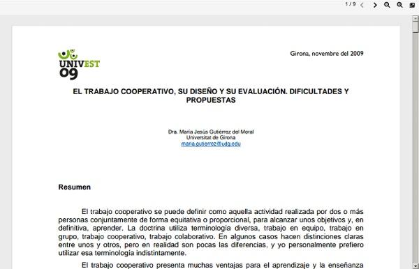 El trabajo cooperativo, su diseño y su evaluación