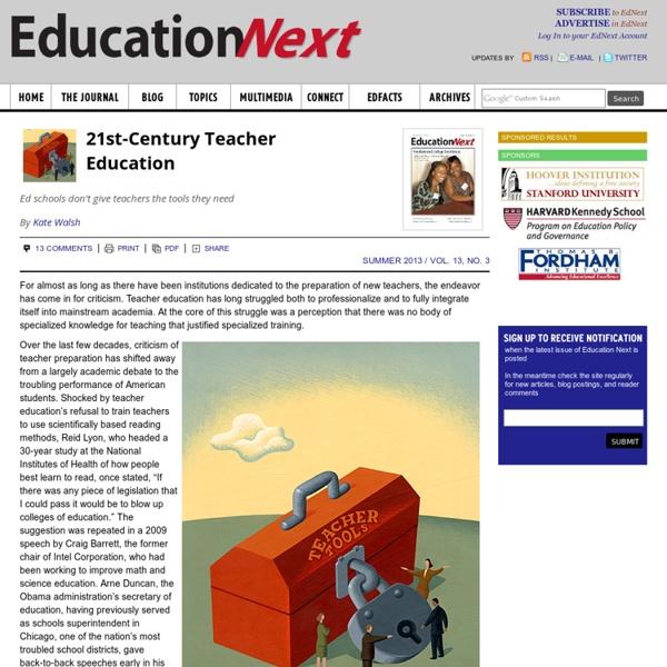 21st-Century Teacher Education