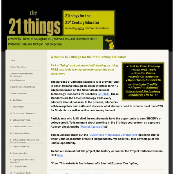 21 Things for the 21st Century Educator - Home