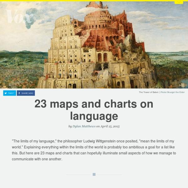 23 maps and charts on language