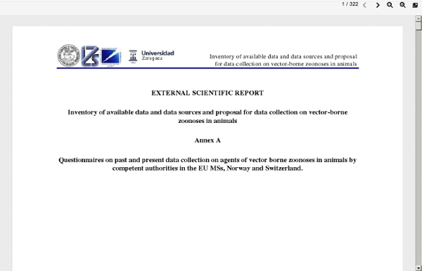 UNIVERSIDAD ZARAGOZA via EFSA - 2012 - Inventory of available data and data sources and proposal for data collection on vector-b