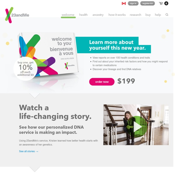 23andMe - Genetic kit for ancestry