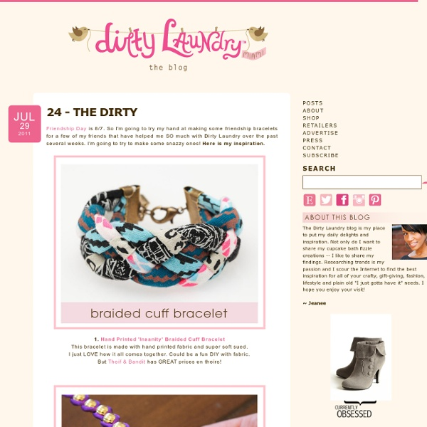 24 - THEDIRTY - Dirty Laundry - {the blog}