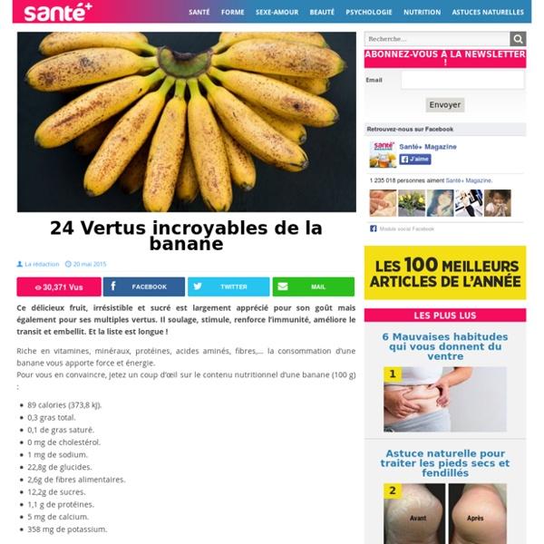 24 Vertus incroyables de la banane
