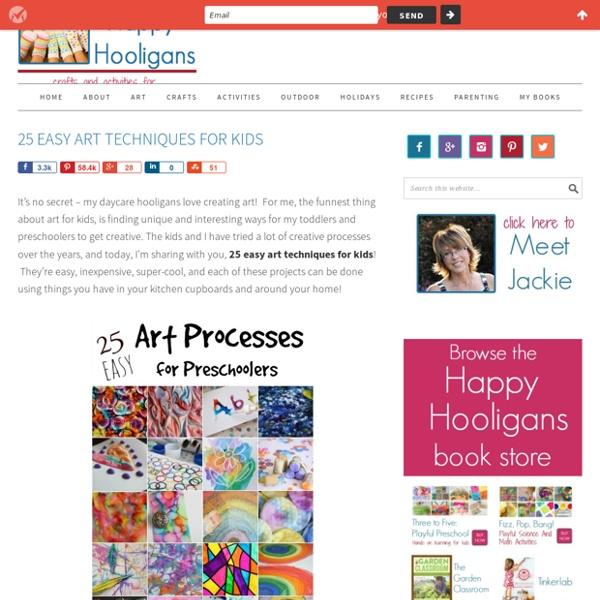 25 Easy Art Techniques for Preschoolers