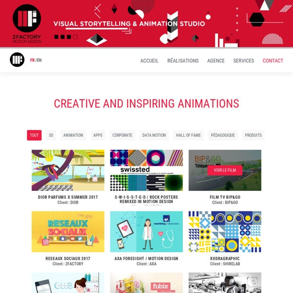 Motion Design, Graphic Design, 2FACTORY, Animation, Film, Motion Graphics