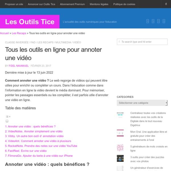 3 outils en ligne pour annoter une vidéo – Les Outils Tice