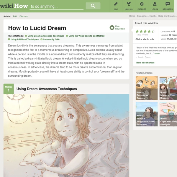 How to Lucid Dream: 16 steps