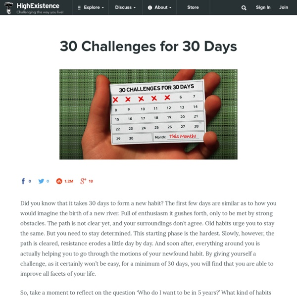 30 Challenges for 30 Days