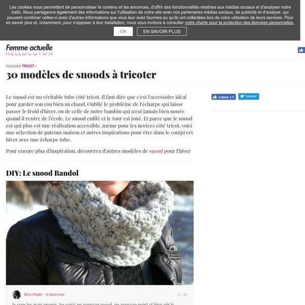 20 modèles de snood à tricoter