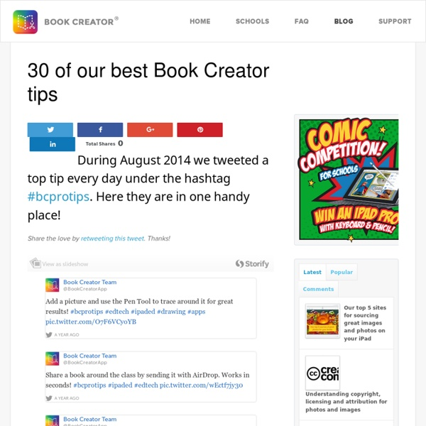 30 of our best Book Creator tips