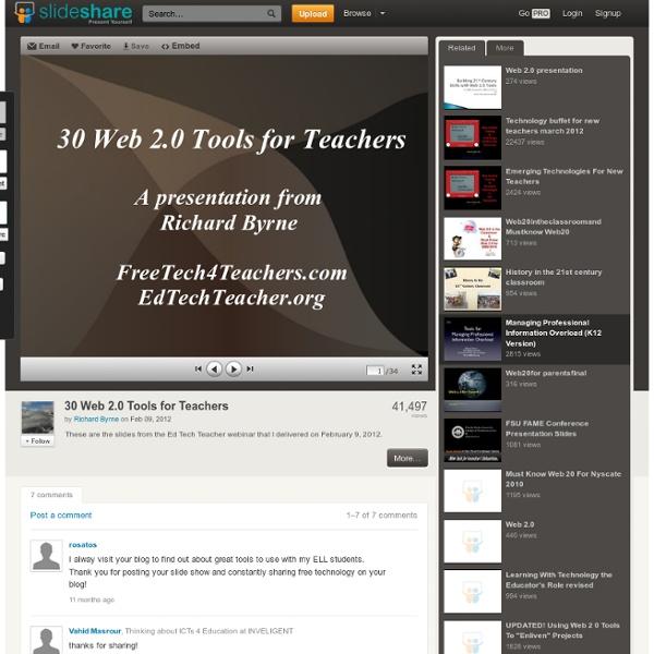 30 Web 2.0 Tools for Teachers