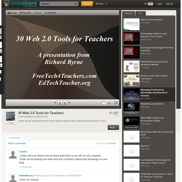 30 Web 2.0 Tools for Teachers
