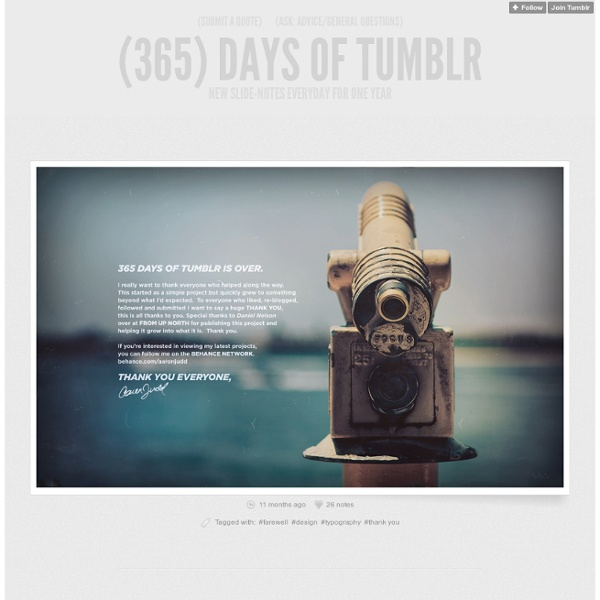 (365) Days of Tumblr