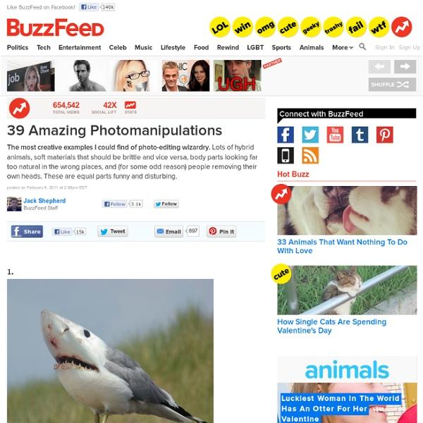 39 Amazing Photomanipulations: Pics, Videos, Links, News