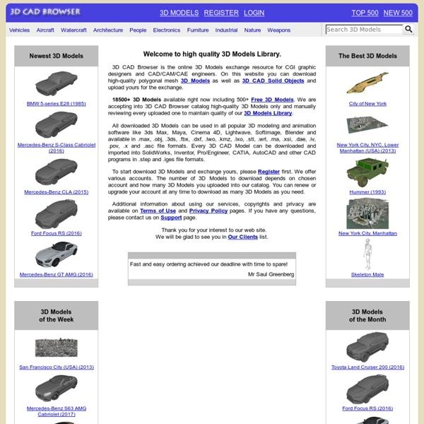 3D Models, CAD Solids