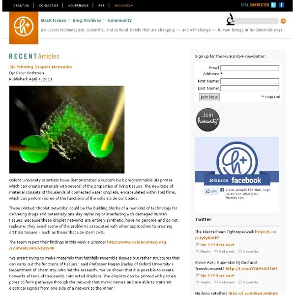 3D Printing Droplet Networks