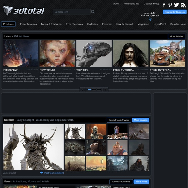 3DTotal.com - CG artists homepage with fresh CG industry news