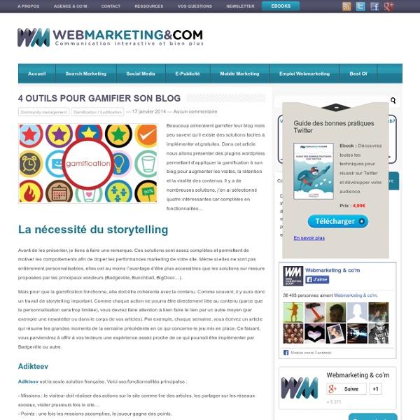 4 outils pour gamifier son blog
