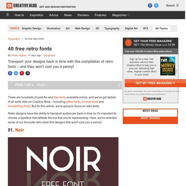 38 free retro fonts