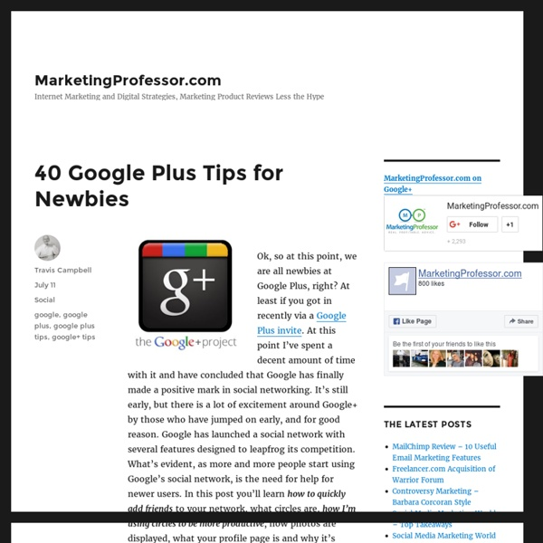 40 Google Plus Tips for Newbies