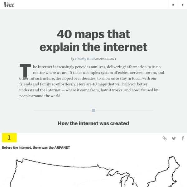 Histoire de la mondialisation d'internet en 40 cartes