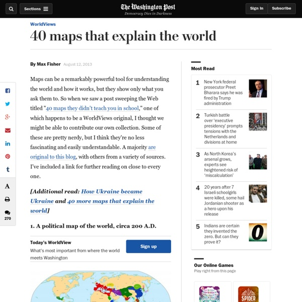 40 maps that explain the world
