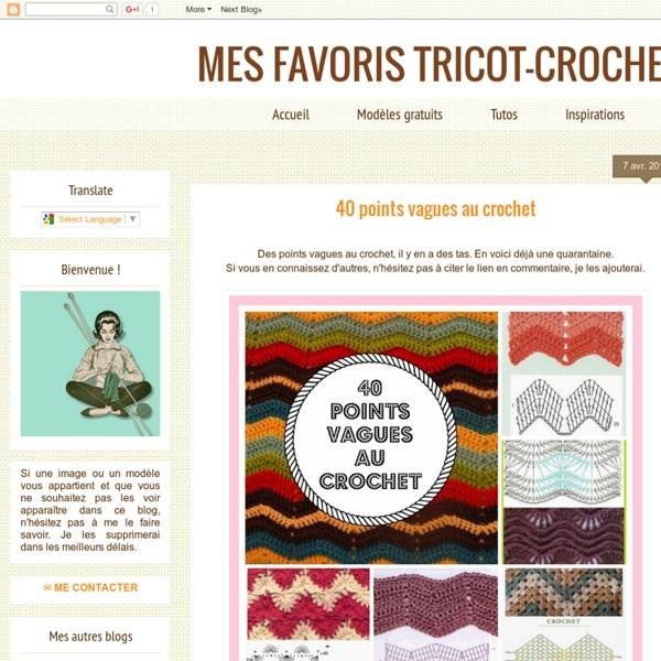 Tutos : 40 points vagues au crochet
