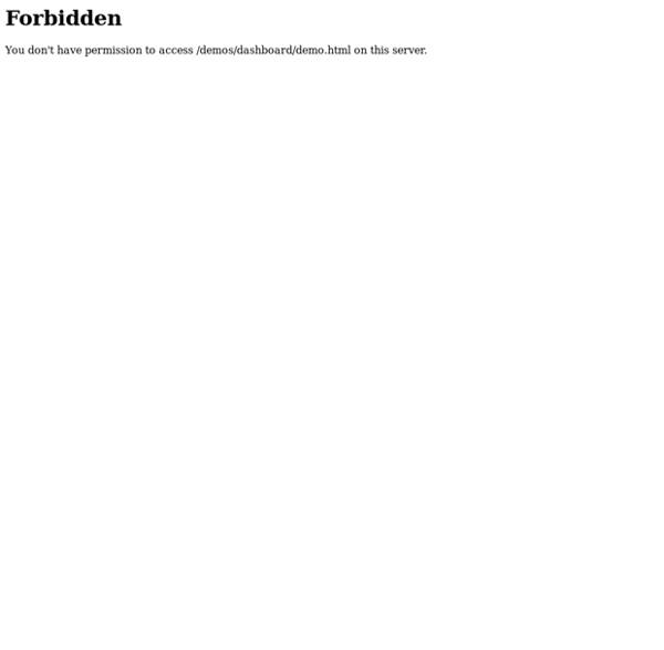 Awesome HTML5 Dashboard