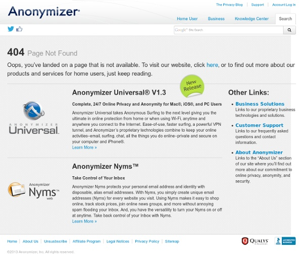Hide IP and Anonymous Web Browsing Software — Anonymizer