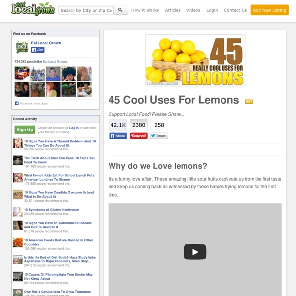45 Cool Uses For Lemons