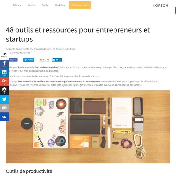 33 outils et ressources pour Startup